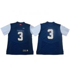 Fighting Irish #3 Joe Montana Navy Strip Limited Shamrock Series Stitched NCAA Jersey