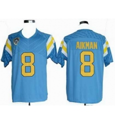 Ncaa UCLA Bruins 8# Troy Aikman blue jerseys