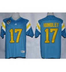 UCLA Bruins Brett Hundley 17 Techfit College Football Jersey Light Blue
