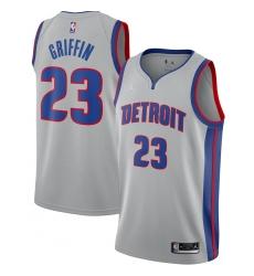 Men's Detroit Pistons #23 Blake Griffin Jordan Brand Silver 2020-21 Swingman Jersey