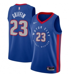 Men's Detroit Pistons #23 Blake Griffin Nike Blue 2020-21 Swingman Player Jersey