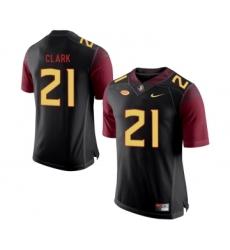 Florida State Seminoles 21 Corey Clark Black College Football Jersey