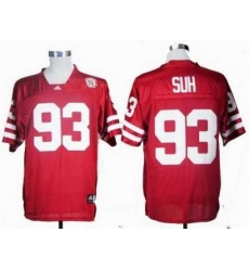 NCAA Nebraska Cornhuskers Ndamukong Suh 93 Red College Football Jersey