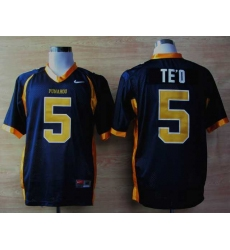 NEW Punahou High School(Honolulu)Manti Te'O 5 Blue Football Jerseys