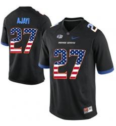 Boise State Broncos #27 Jay Ajayi Black USA Flag College Football Jersey