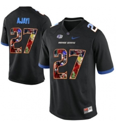 Boise State Broncos #27 Jay Ajayi Black With Portrait Print College Football Jersey5