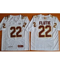 Boston College Eagles #22 Doug Flutie White Authentic Performance Stitched NCAA Jersey
