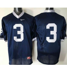 Nittany lions #3 Navy Blue Stitched NCAA Jersey
