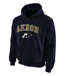 Akron Zips Navy Blue Midsize Arch Pullover Hoodie