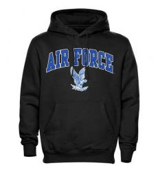 Air Force Falcons Black Midsize Arch Pullover Hoodie
