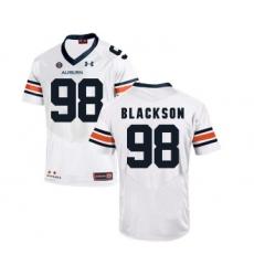 Auburn Tigers 98 Angelo Blackson White College Football Jersey
