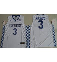 Kentucky Wildcats #3 Edrice Adebayo White Basketball Elite Stitched NCAA Jersey