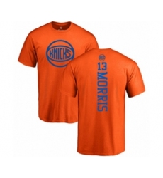 Basketball New York Knicks #13 Marcus Morris Orange One Color Backer T-Shirt