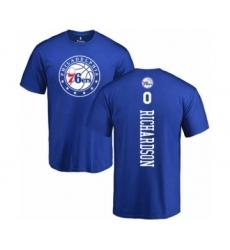 Basketball Philadelphia 76ers #0 Josh Richardson Royal Blue Backer T-Shirt