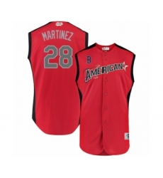 Men's Boston Red Sox #28 J. D. Martinez Authentic Red American League 2019 Baseball All-Star Jersey