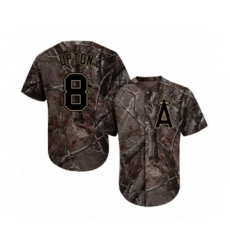 Men's Los Angeles Angels of Anaheim #8 Justin Upton Authentic Camo Realtree Collection Flex Base Baseball Jersey