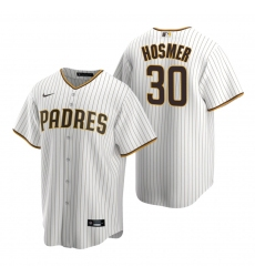 Men's Nike San Diego Padres #30 Eric Hosmer White Brown Home Stitched Baseball Jersey