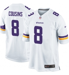 Men's Nike Minnesota Vikings #8 Kirk Cousins Game White NFL Jersey