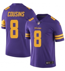 Men's Nike Minnesota Vikings #8 Kirk Cousins Limited Purple Rush Vapor Untouchable NFL Jersey