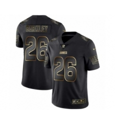 Men New York Giants #26 Saquon Barkley Black Golden Edition 2019 Vapor Untouchable Limited Jersey