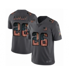 Men's New York Giants #26 Saquon Barkley Limited Black USA Flag 2019 Salute To Service Football Jersey