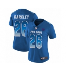 Women's Nike New York Giants #26 Saquon Barkley Limited Royal Blue NFC 2019 Pro Bowl NFL Jersey
