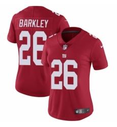 Women's Nike New York Giants #26 Saquon Barkley Red Alternate Vapor Untouchable Limited Player NFL Jersey