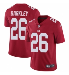 Youth Nike New York Giants #26 Saquon Barkley Red Alternate Vapor Untouchable Elite Player NFL Jersey