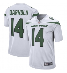 Men's New York Jets #14 Sam Darnold Nike White Player Game Jersey