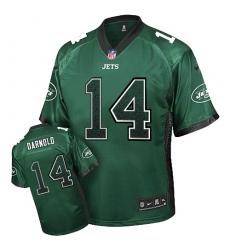 Men's Nike New York Jets #14 Sam Darnold Elite Green Drift Fashion NFL Jersey