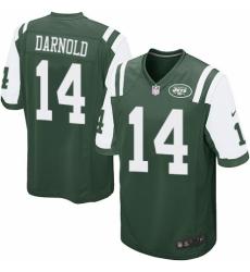 Men's Nike New York Jets #14 Sam Darnold Game Green Team Color NFL Jersey