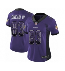 Women's Nike Baltimore Ravens #83 Willie Snead IV Limited Purple Rush Drift Fashion NFL Jersey