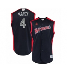 Men's Arizona Diamondbacks #4 Ketel Marte Authentic Navy Blue National League 2019 Baseball All-Star Jersey
