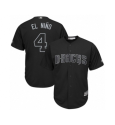 Men's Arizona Diamondbacks #4 Ketel Marte  El Nino  Authentic Black 2019 Players Weekend Baseball Jersey