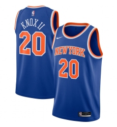 Men's New York Knicks #20 Kevin Knox II Nike Blue 2020-21 Swingman Jersey
