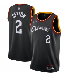 Men's Cleveland Cavaliers #2 Collin Sexton Nike Black 2020-21 Swingman Player Jersey
