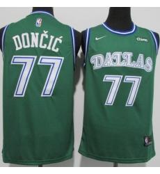 Men's Dallas Mavericks #77 Luka Doncic Nike Green Swingman Player Jersey