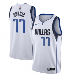 Men's Dallas Mavericks #77 Luka Doncic Nike White 2020-21 Swingman Jersey