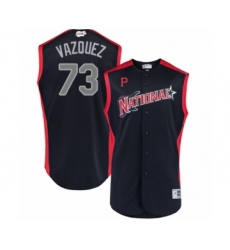 Men's Pittsburgh Pirates #73 Felipe Vazquez Authentic Navy Blue National League 2019 Baseball All-Star Jersey
