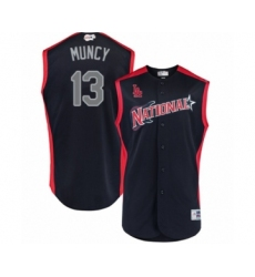 Men's Los Angeles Dodgers #13 Max Muncy Authentic Navy Blue National League 2019 Baseball All-Star Jersey