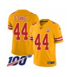 Men's Kansas City Chiefs #44 Dorian O'Daniel Limited Gold Inverted Legend 100th Season Football Jersey