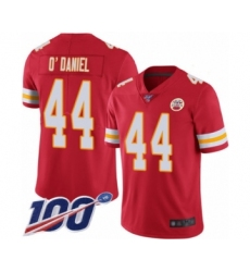Men's Kansas City Chiefs #44 Dorian O'Daniel Red Team Color Vapor Untouchable Limited Player 100th Season Football Jersey