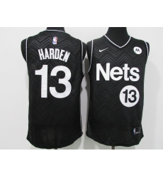 Men's Nike Brooklyn Nets #13 Dzanan Musa Black Jersey