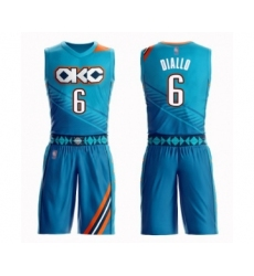 Men's Oklahoma City Thunder #6 Hamidou Diallo Swingman Turquoise Basketball Suit Jersey - City Edition