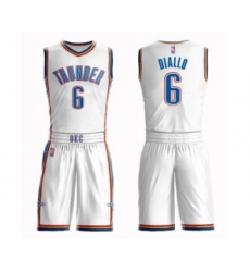 Men's Oklahoma City Thunder #6 Hamidou Diallo Swingman White Basketball Suit Jersey - Association Edition
