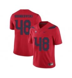 Arizona Wildcats 48 Rob Gronkowski Red College Football Jersey