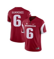 Arkansas Razorbacks 6 T.J. Hammonds Red College Football Jersey