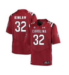 South Carolina Gamecocks 32 Caleb Kinlaw Red College Football Jersey