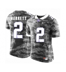 TCU Horned Frogs 2 Jason Verrett Gray College Football Limited Jersey