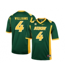 North Dakota State Bison 4 Dimitri Williams Green College Football Jersey